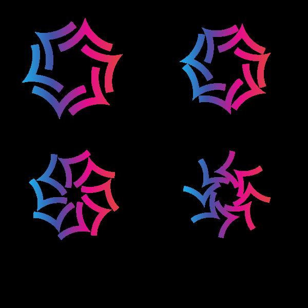 Logotype designs set