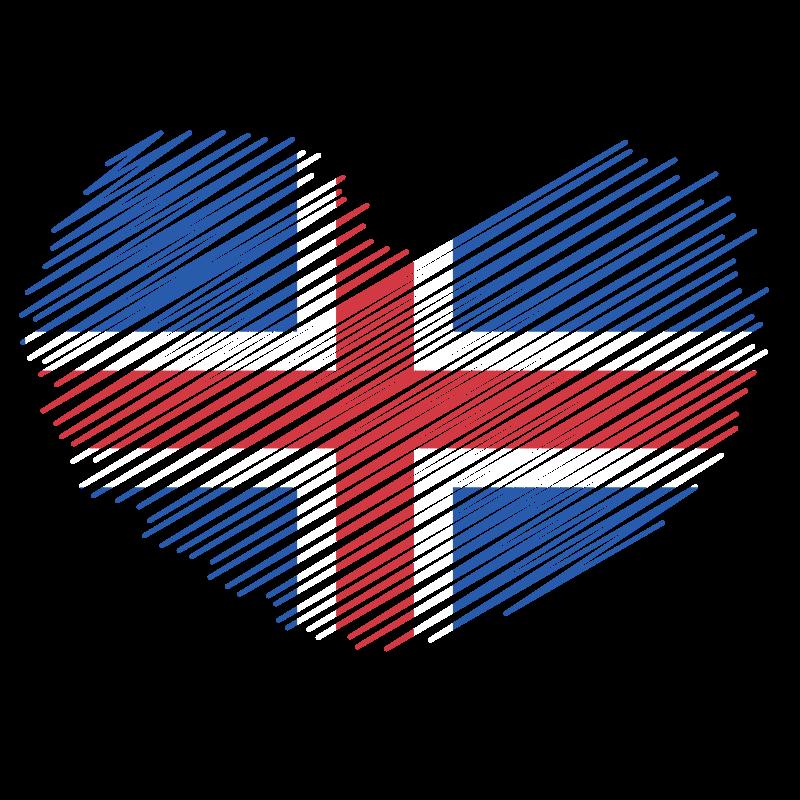 Iceland flag patriotic symbol