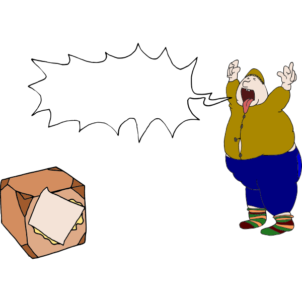 Shouting at parcel