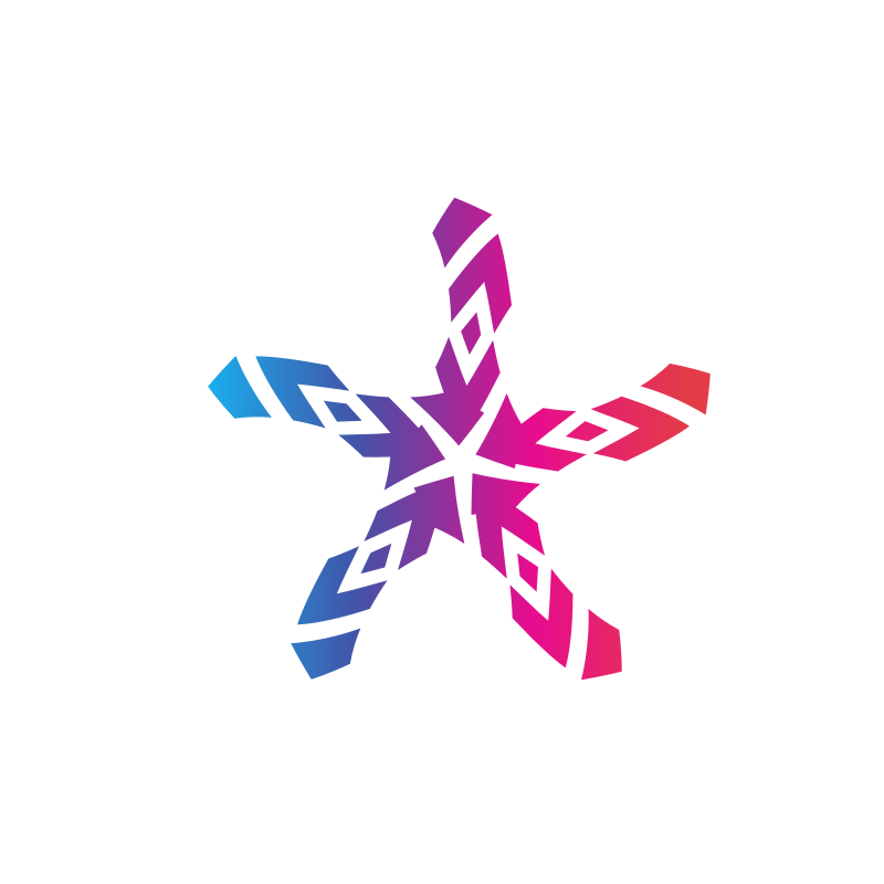 Stylized star logotype concept