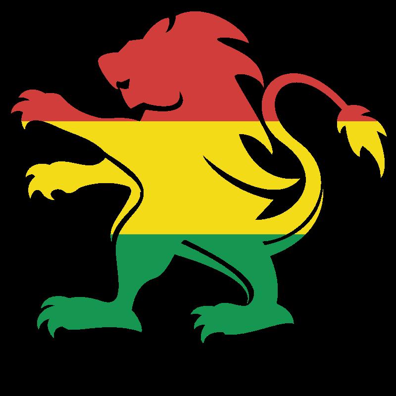 Bolivian flag heraldic lion