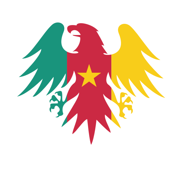 Cameroon heraldic crest flag