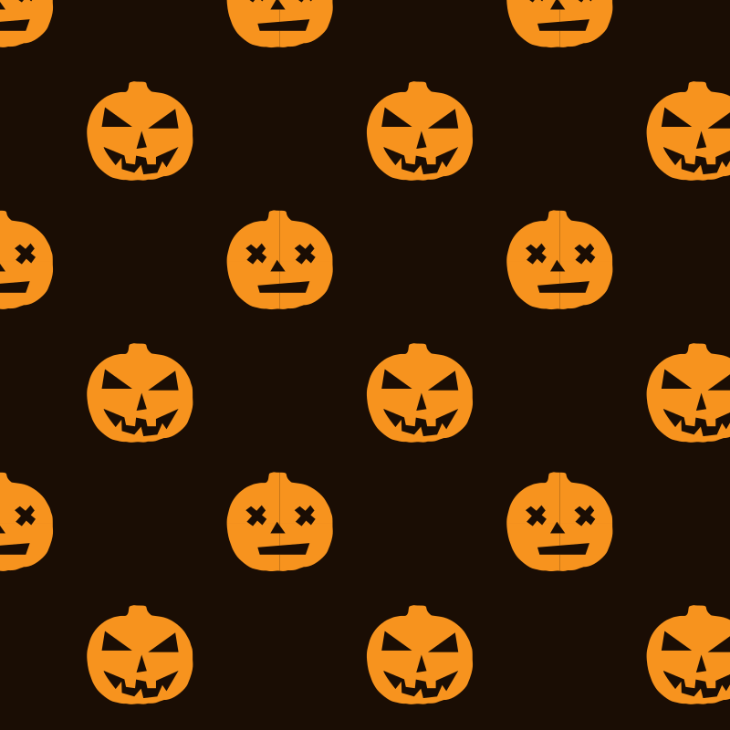 Halloween pattern carved pumpkins