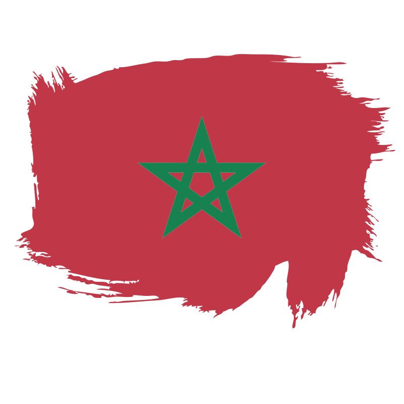 Morocco flag brushstroke