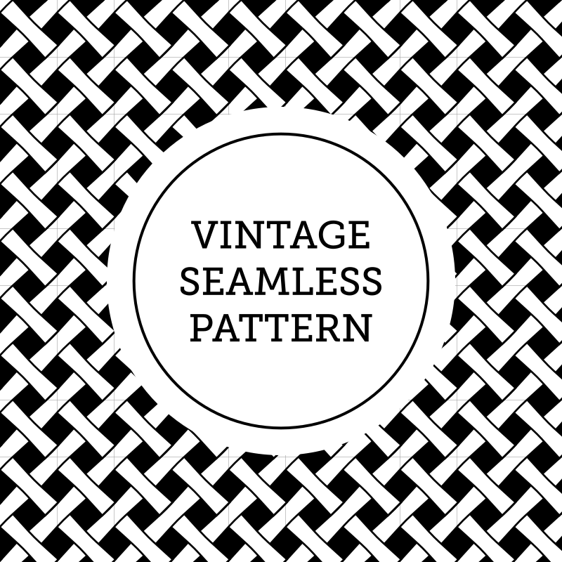 Black and white vintage pattern