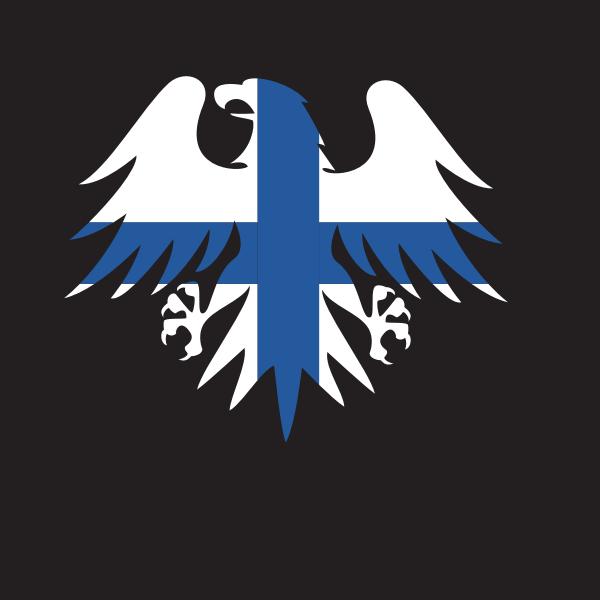 Flag of Finland heraldic eagle
