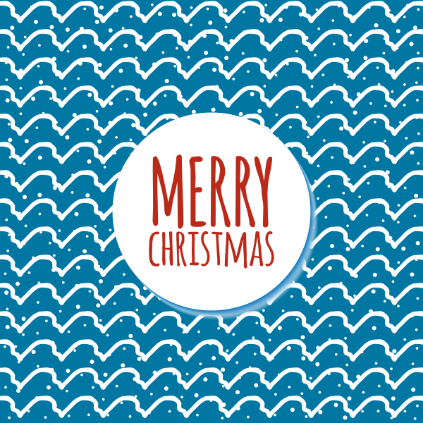 Merry Christmas blue background
