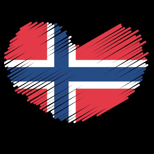 Norwegian flag heart symbol