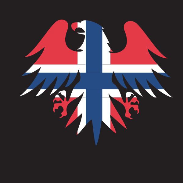 Norwegian flag heraldic eagle