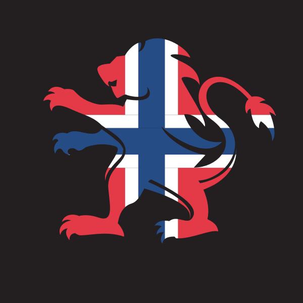 Norwegian flag heraldic lion