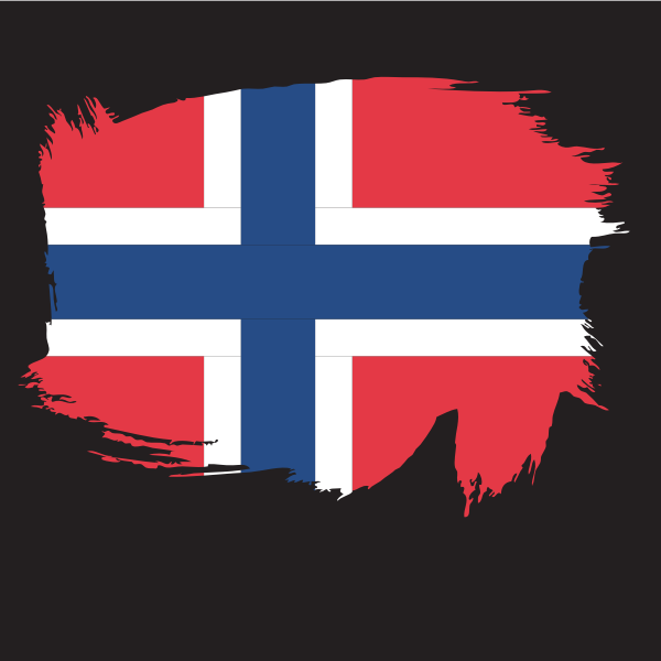 Painted flag of Norway