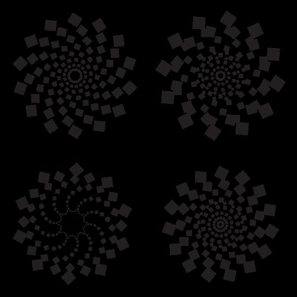 Circular dotted patterns