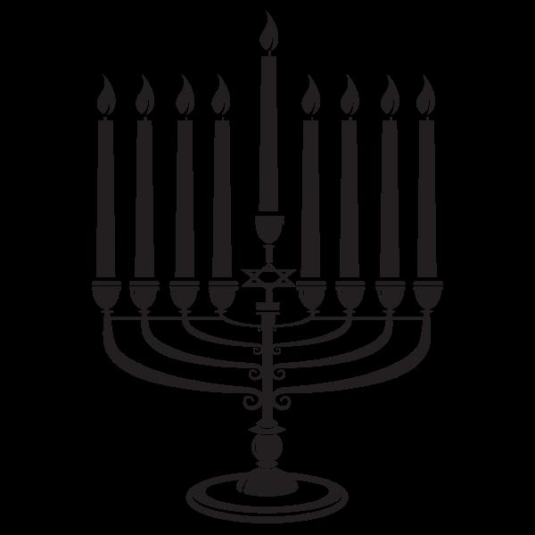 Hanukkah candles silhouette