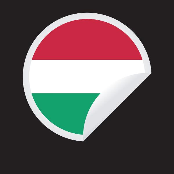 Hungarian flag sricker