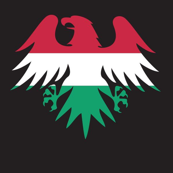 Hungary flag heraldic eagle