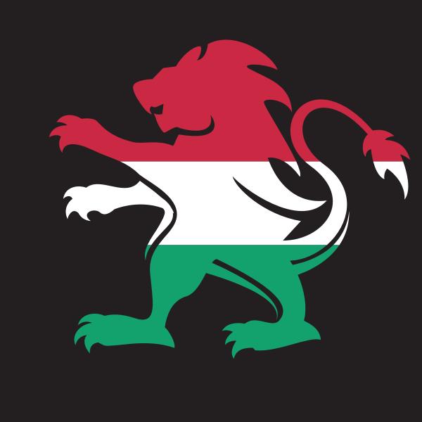 Hungary flag heraldic lion