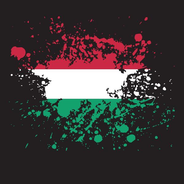 Hungarian flag ink gunge