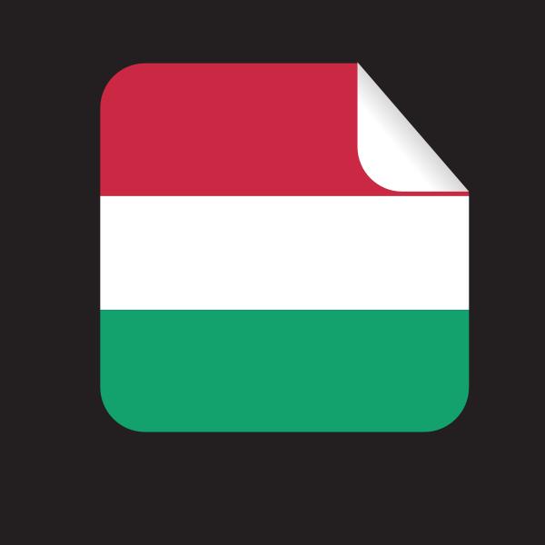 Hungary flag sticker