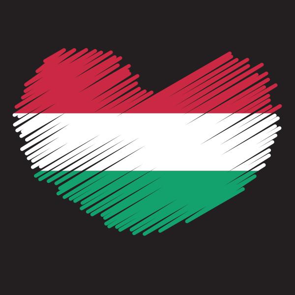 Hungary heart patriotic symbol