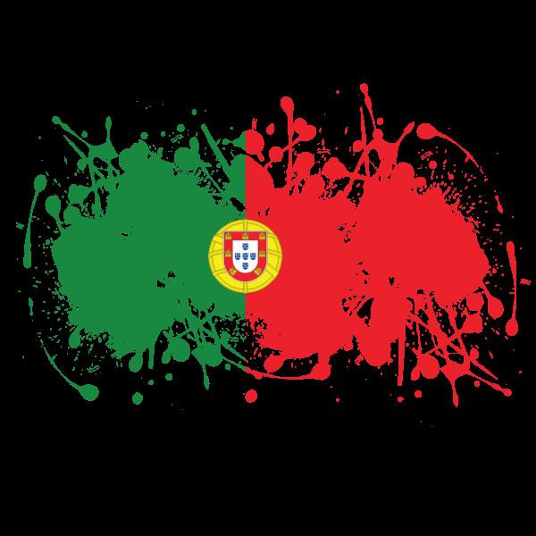 Portugal flag ink splatter
