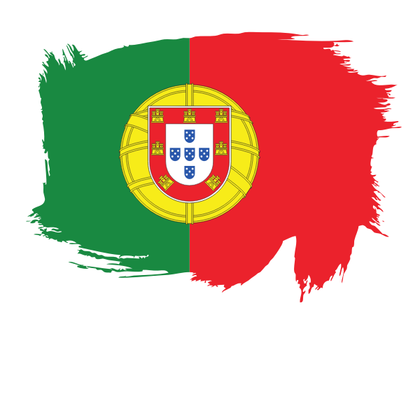 Portugal flag painted