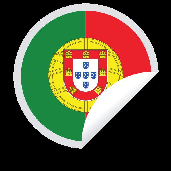 Portugal flag sticker svg clipart