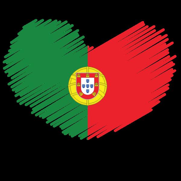 Portuguese flag patriotic symbol