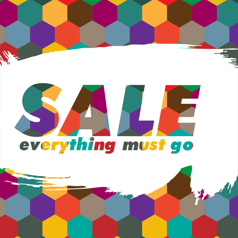Sale storefront poster