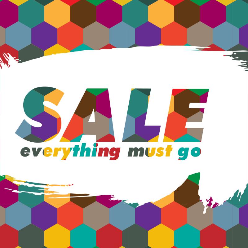 Sale storefront poster
