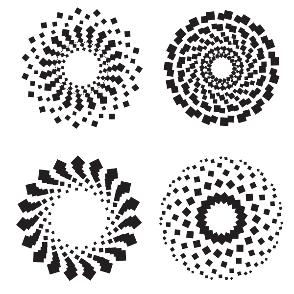 Circular decorative patterns