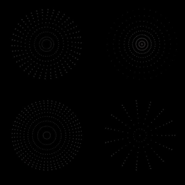 Speckle radial patterns