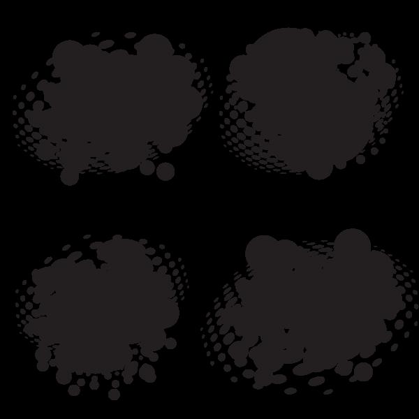 Halftone black ink grunge