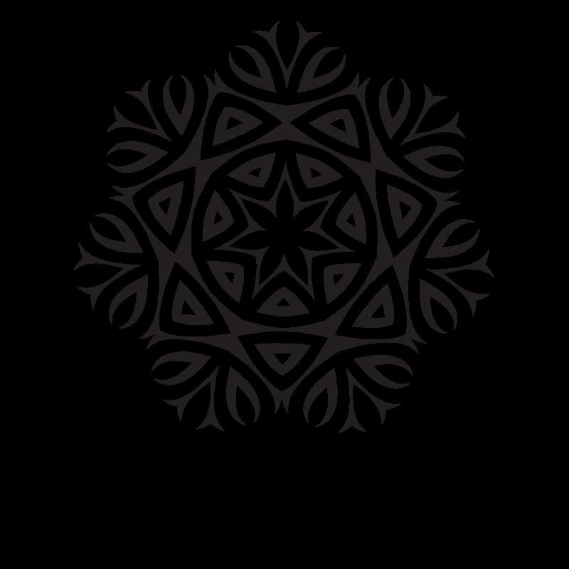 Monochrome logo design element