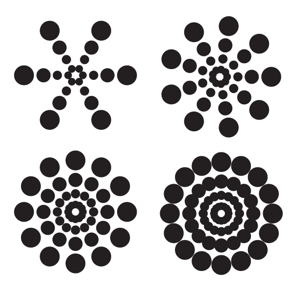 Circular dotted design elements