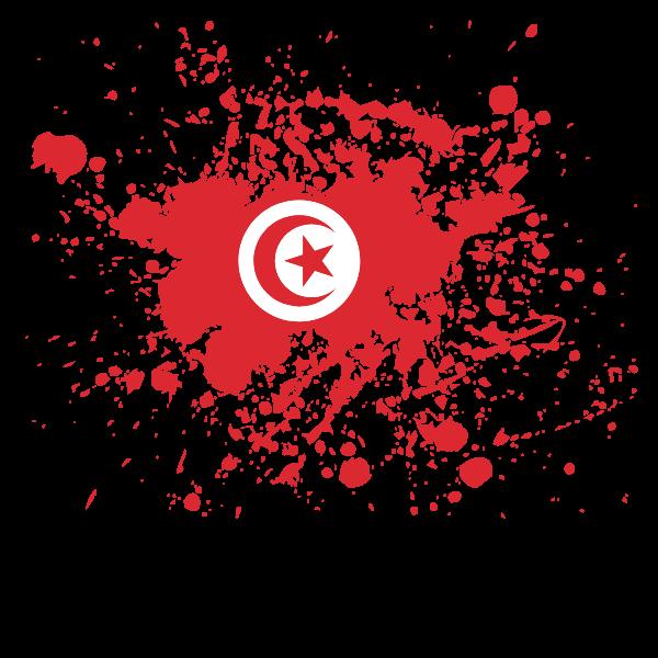 Tunisian flag ink blot