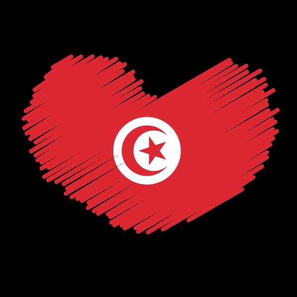 Tunisian flag patriotic symbol