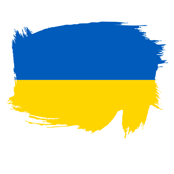 Painted flag of Ukraine