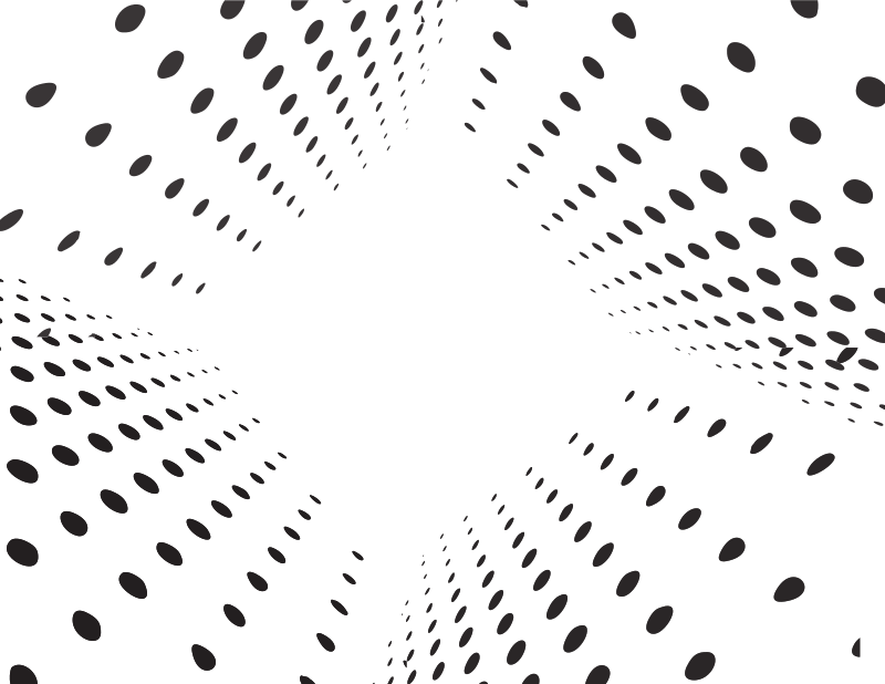 Halftone pattern perspective view