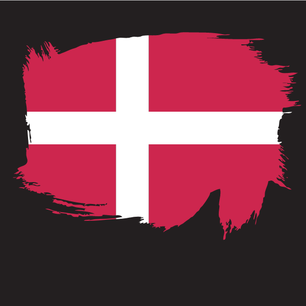 Painted flag of Denmark