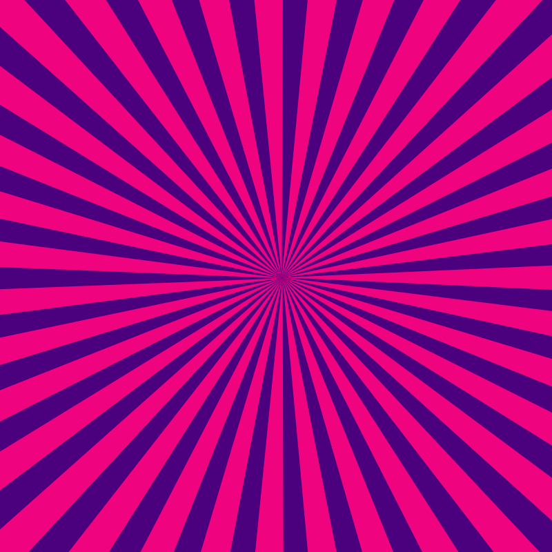 Purple and pink radial beams