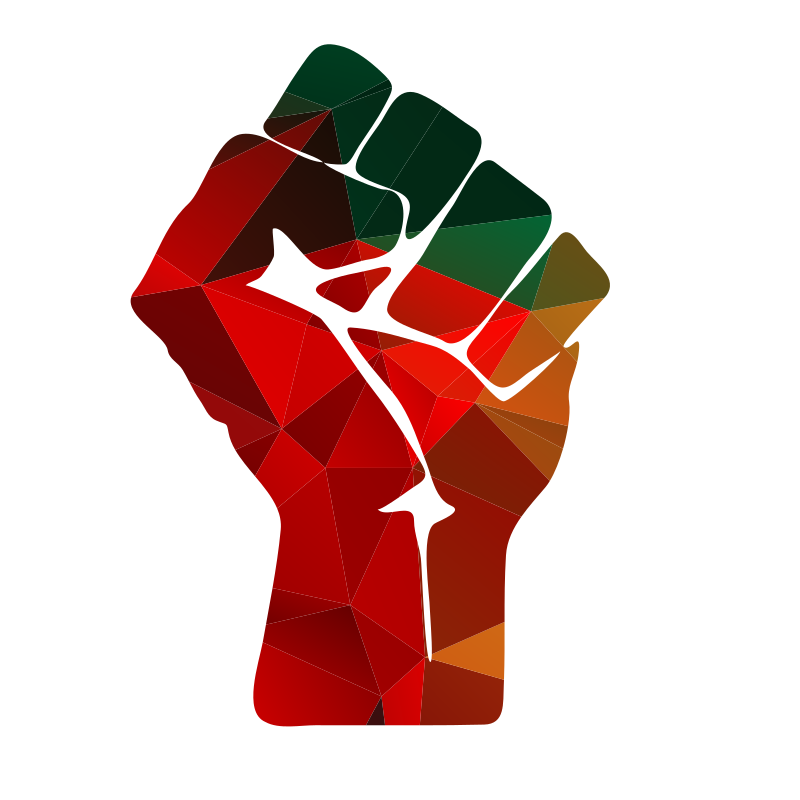 Fist silhouette color low poly
