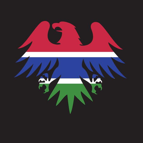 Gambian flag eagle emblem