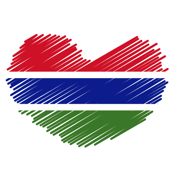 Gambian flag patriotic symbol