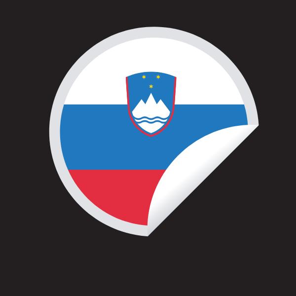 Slovenian flag sticker symbol