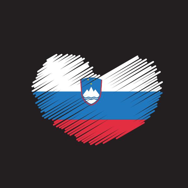 Slovenian flag patriotic symbol