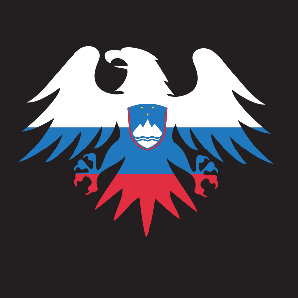 Slovenian flag emblem eagle