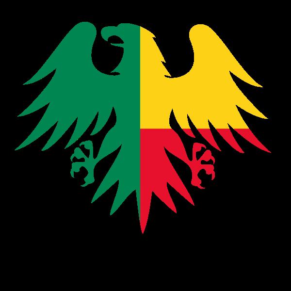 Benin flag eagle crest