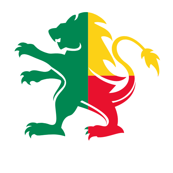 Benin flag lion emblem