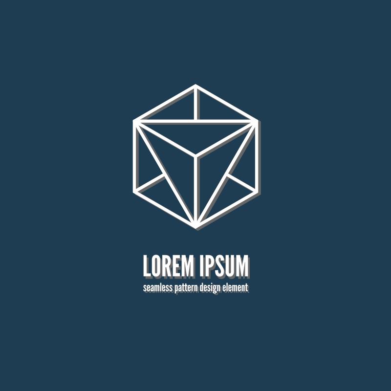 Cube logotype vector design