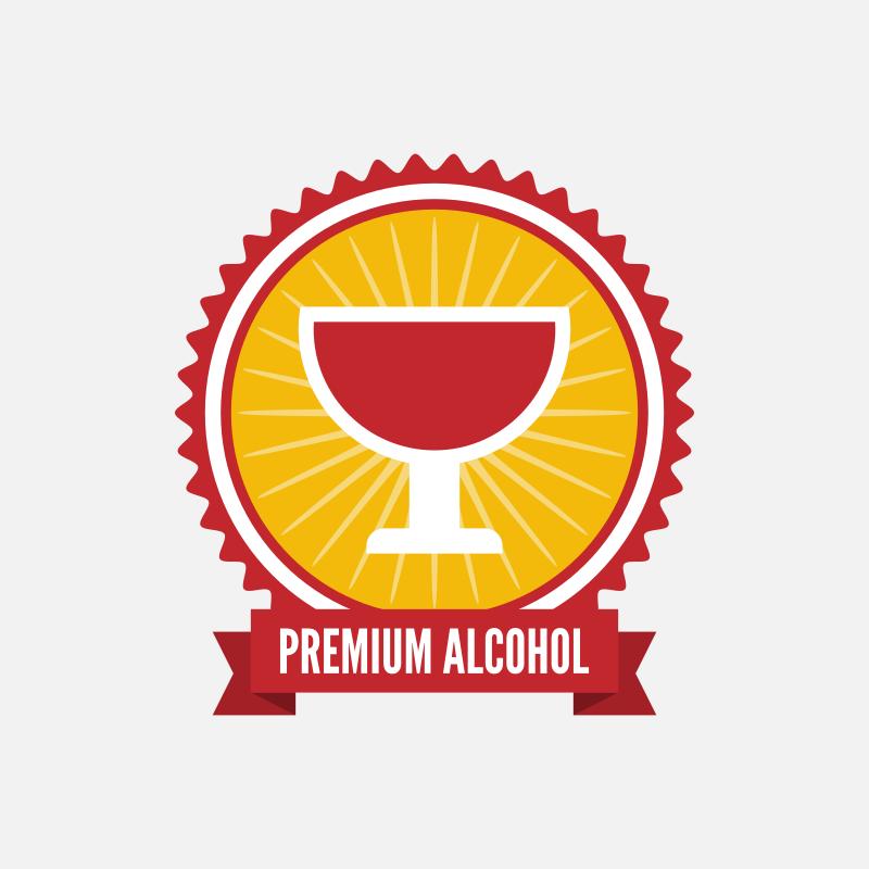 Premium drink label